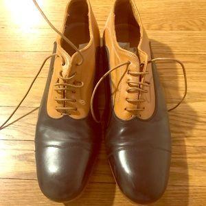 Alexander McQueen Size 43 Black/ Tan Oxfords
